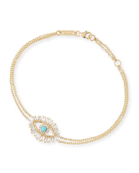 Suzanne Kalan Turquoise & Diamond Evil Eye Bracelet
