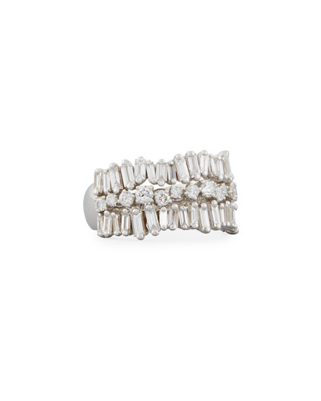 Baguette & Round Diamond Eternity Band Ring