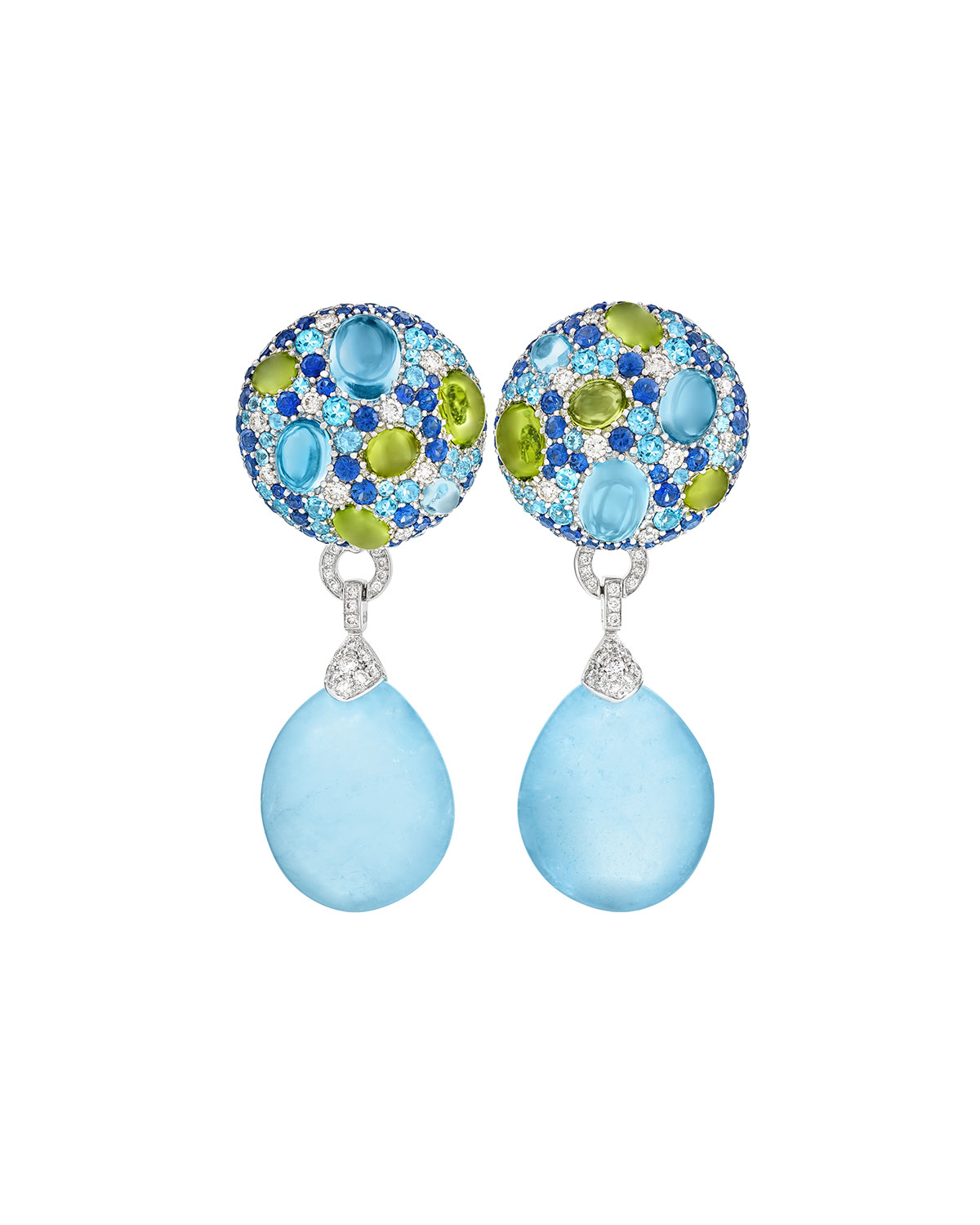 Margot McKinney Jewelry Carnivale Denim Blue Topaz Earrings with Diamonds rKj637x82E
