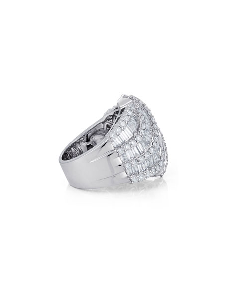 Bessa Multi-Row Baguette Diamond Ring, Size 6.5