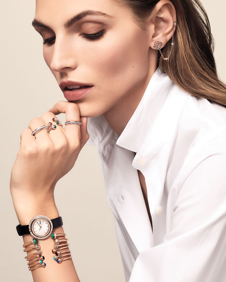 Possession Medium Bracelet with Diamonds in 18K Red Gold, Size L