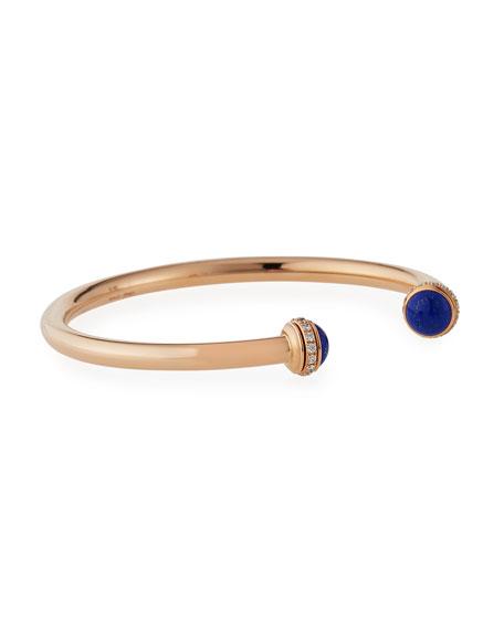 Possession Large Lapis Cabochon Bracelet in 18K Red Gold, Size L