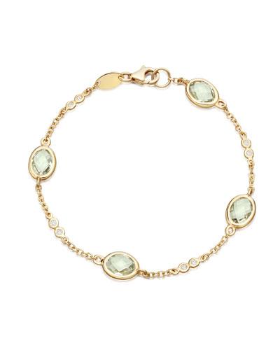 Eternal Green Amethyst Bracelet with Diamonds