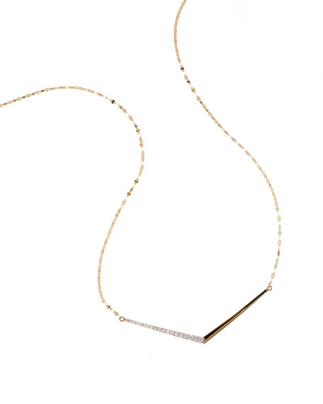 LANA 14k Mirage Edge Diamond Necklace
