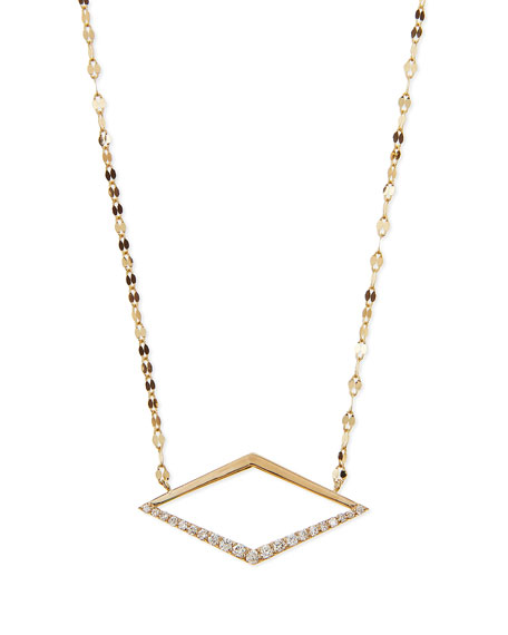 LANA 14k Mirage Diamond Pendant Necklace