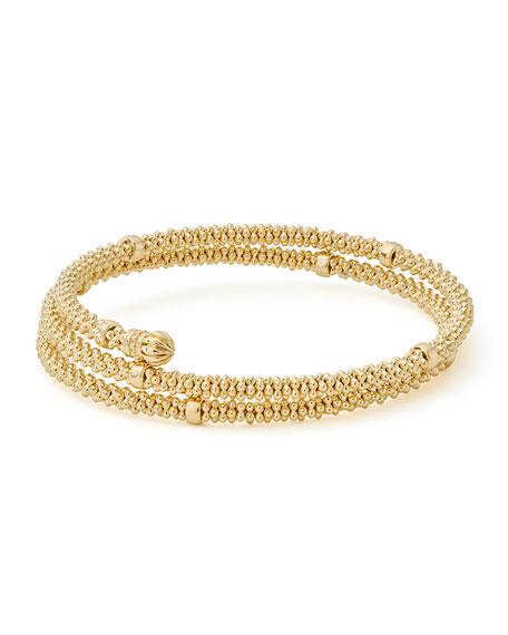 Small 18K Gold Caviar Coil Bracelet