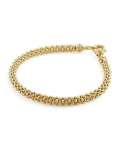 Medium 4mm Caviar Rope Bracelet