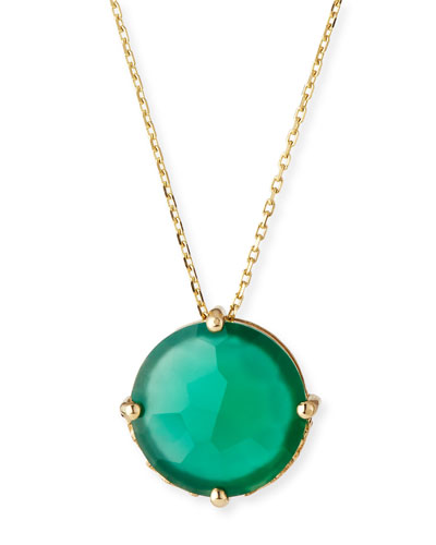 Round Green Onyx Pendant Necklace
