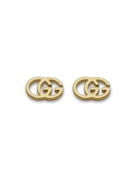 Gucci 18K White Gold Running G Stud Earrings Qf35d5v6P5