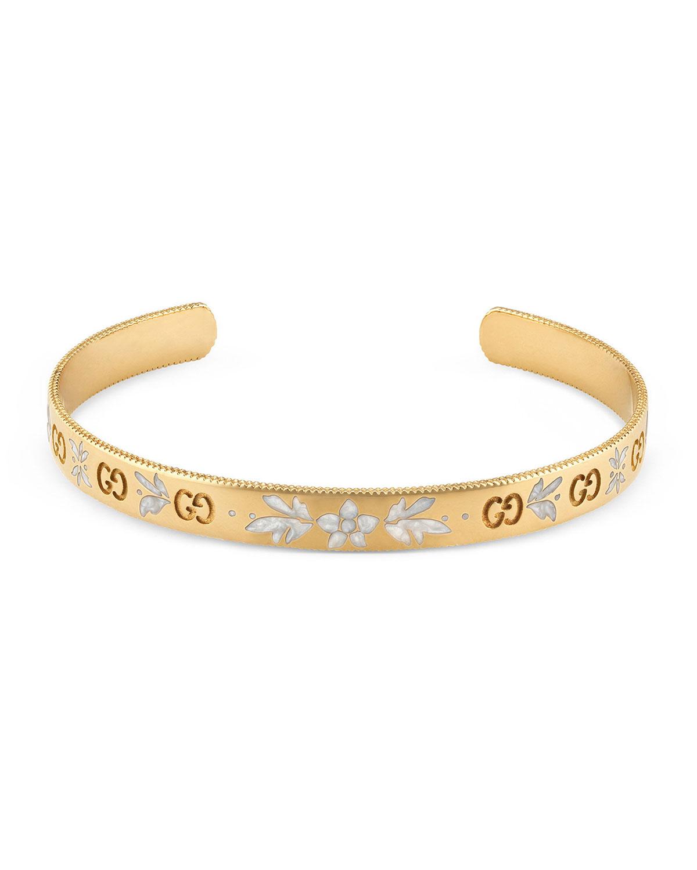 Icon Bangle Bracelet In 18k Gold