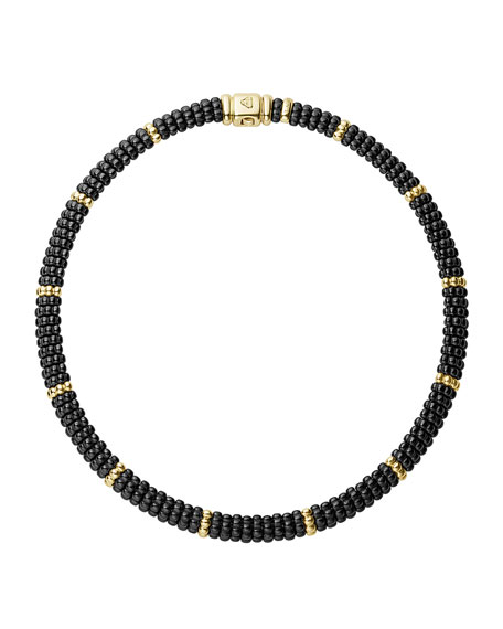 Black Caviar & 18K Gold Necklace