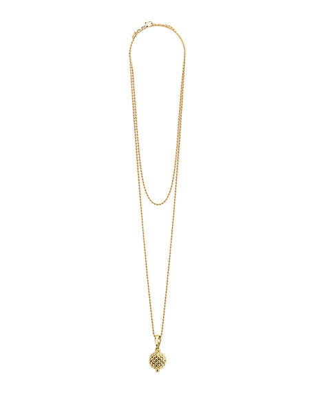 LAGOS 18K Gold Caviar Ball Pendant Necklace