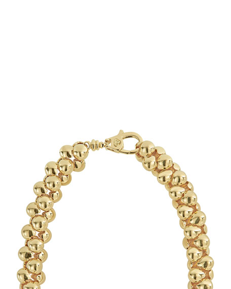 """LAGOS 18K Caviar Connected Link Rope Necklace, 16"""""""