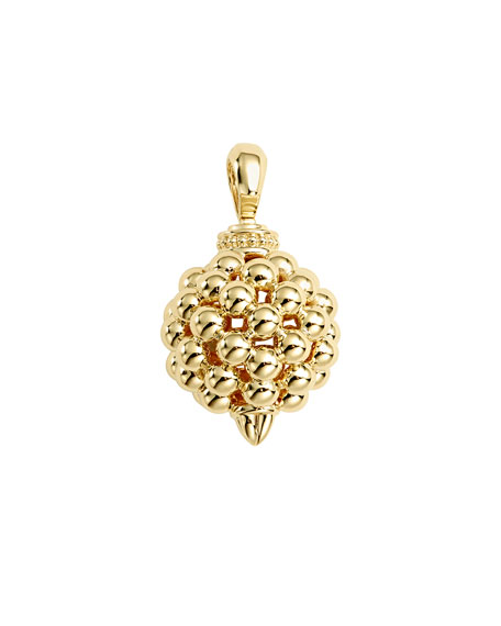 Bold Caviar Lattice Ball Pendant