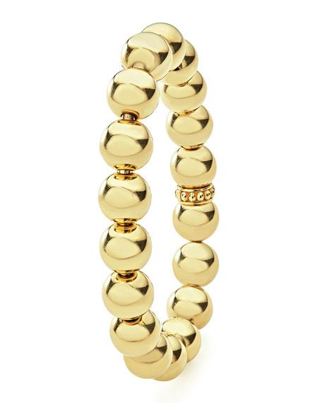 Medium 11.7mm Caviar Ball Stretch Bracelet