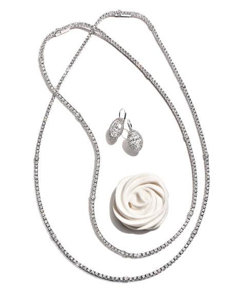 Oval-Cut Diamond Drop Earrings in 18K White Gold