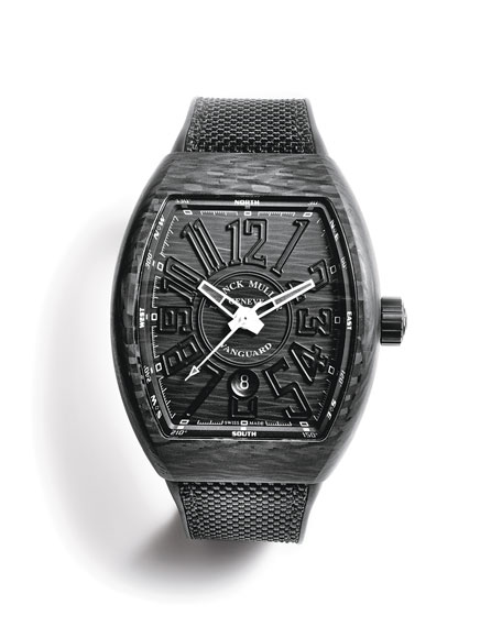 Franck Muller Vanguard Watch with Black Carbon Fiber Strap