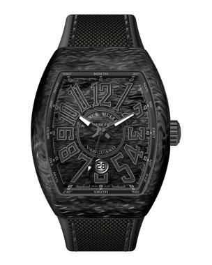 8246d4059b7 Franck Muller Vanguard Watch with Black Carbon Fiber Strap