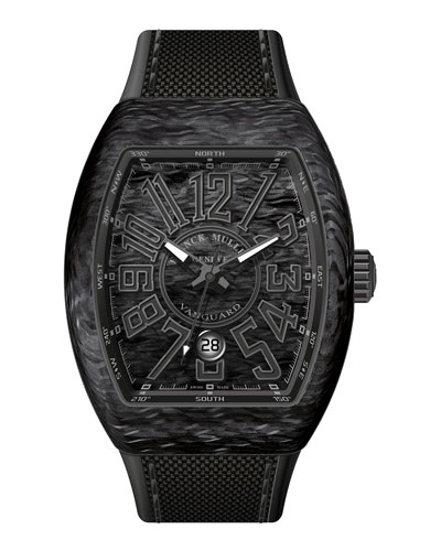 Vanguard Watch with Black Carbon Fiber Strap