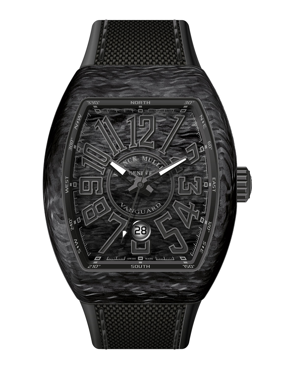c6f0ca17e36 Franck Muller Vanguard Watch with Black Carbon Fiber Strap