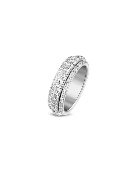 Possession Bandeau Diamond Ring in 18K White Gold, Size 6