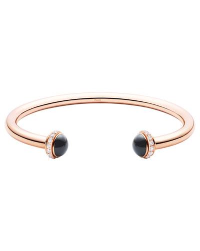 Possession Medium Onyx Cabochon Bracelet in 18K Red Gold, Size M