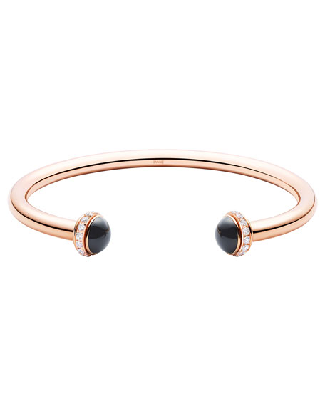Possession Medium Onyx Cabochon Bracelet in 18K Red Gold, Size M