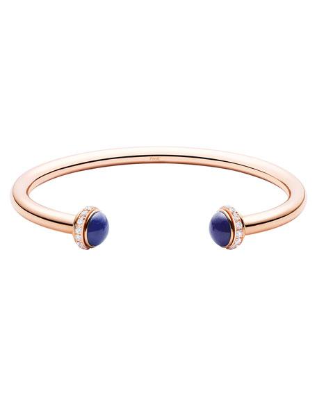 Possession Medium Lapis Cabochon Bracelet in 18K Red Gold, Size M
