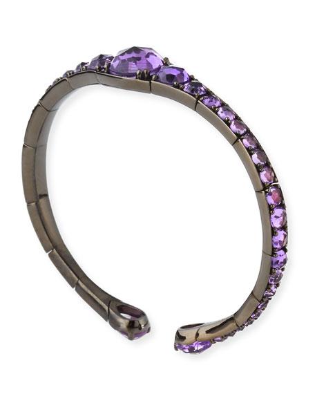 Amethyst Bracelet in 18K White Gold