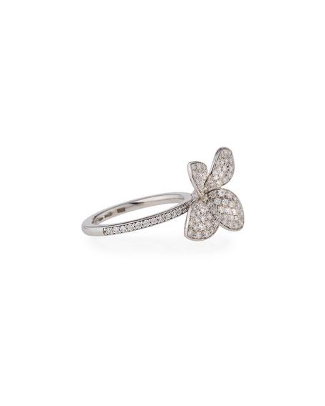 Giardini Segreti Petite Diamond Flower Ring, Size 6.5