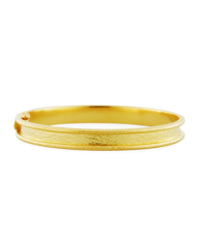Flat Thin Narrow 19K Bangle Bracelet