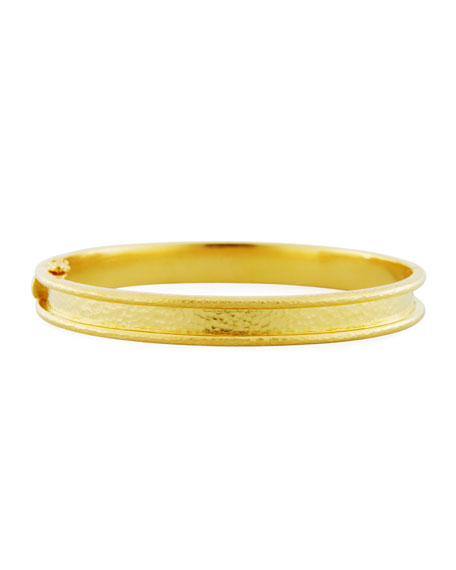 Elizabeth Locke Flat Thin Narrow 19K Bangle Bracelet Y8Q5aNp