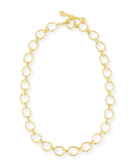 Elizabeth Locke Positano Link Necklace in 18K Gold,