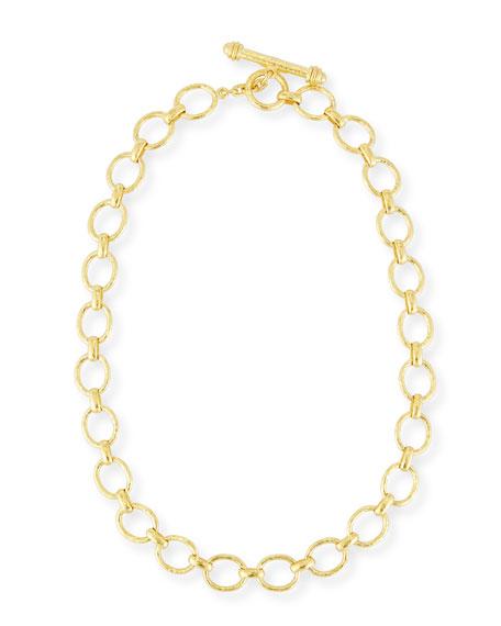 Elizabeth Locke Positano Link Necklace in 18K Gold,