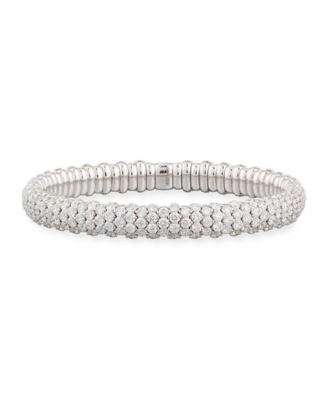 Diamond Stretch Bracelet in 18K White Gold, 10.61 tdcw