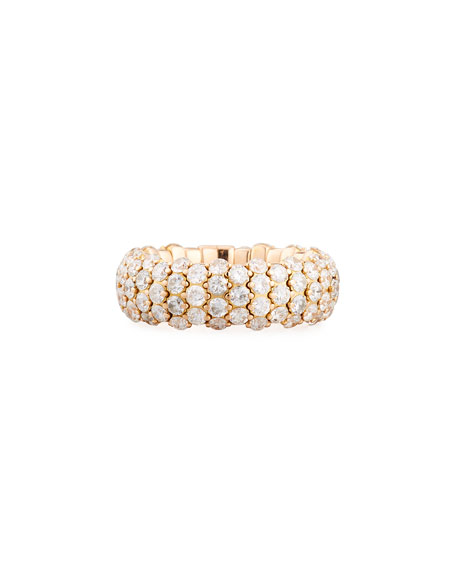 Stretchable Diamond Band Ring in 18K Rose Gold