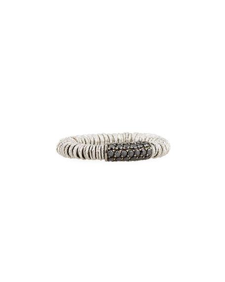 Joy 18K White Gold & Black Diamond Tube Ring
