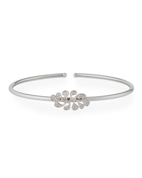 Miseno Sea Leaf Diamond Bangle in 18K White Gold
