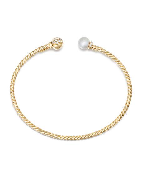 Solari Pearl & Diamond Bracelet, Size M