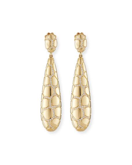 Vendorafa Anaconda 18K Gold Earrings with Diamonds