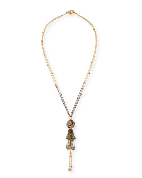 Mariani Brown & White Diamond Knot Chain Necklace