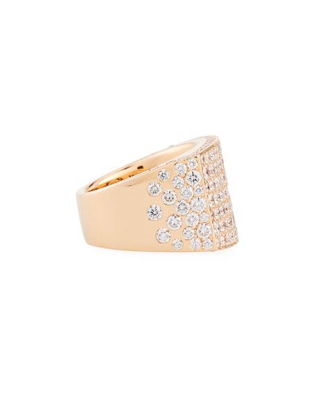 18K Rose Gold Pavé Diamond Square Ring