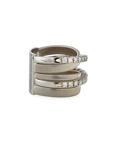 Marco Bicego Masai Ring with Diamonds in 18K Yellow Gold, Size 6.5