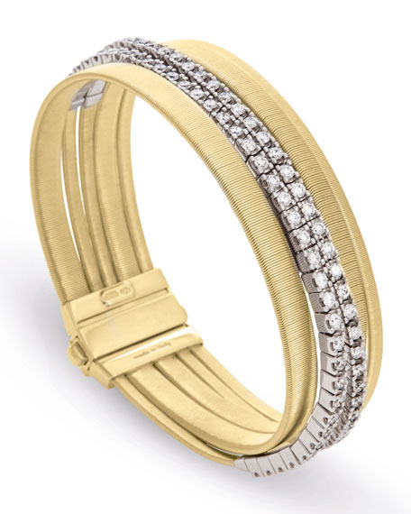Masai Five-Strand Crossover Bracelet with Diamonds