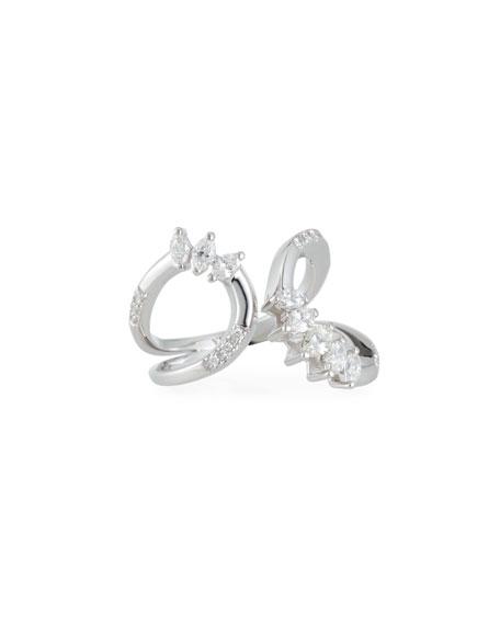Yeprem Round & Marquis Diamond Open Ring, Size 7