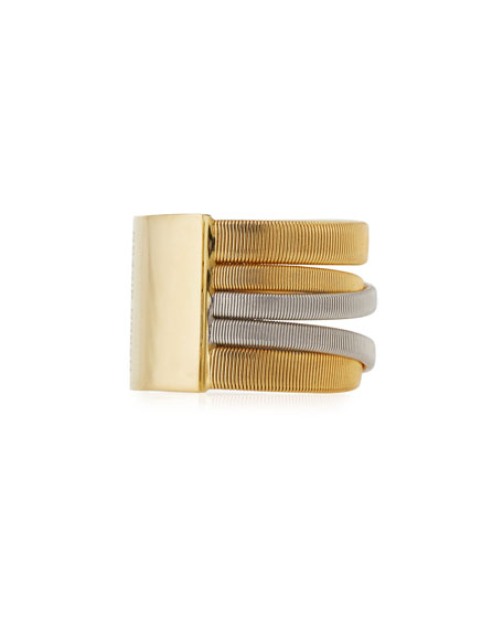Masai Yellow & White Gold Five Strand Ring