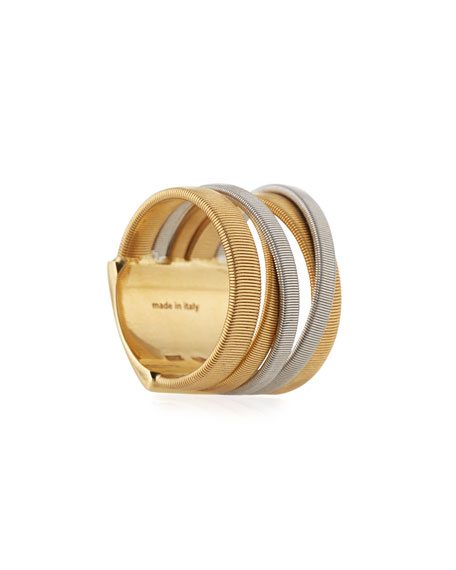 Masai Yellow & White Gold Five Strand Ring