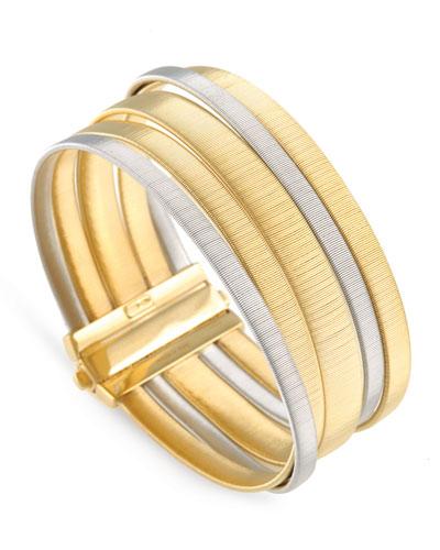 Masai 18K Yellow & White Gold Five-Strand Bracelet