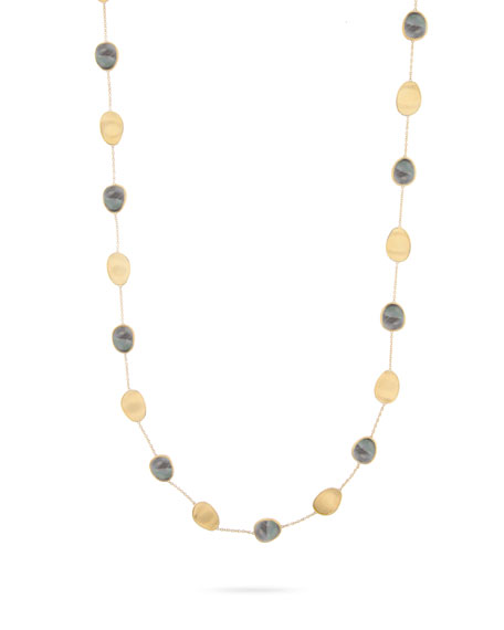 Marco Bicego Lunaria Long Necklace with Black Mother-of-Pearl
