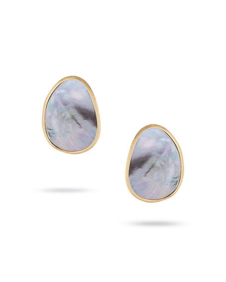 Lunaria Stud Earrings with Black Mother-of-Pearl